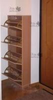 <p> Шкаф для обуви в прихожую системы слим,с откидными секциями. Материалы: ЛДСП Еггер, ручки - алюминий с напылением.</p>