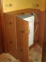 <p> Тумба для стиральной машины с распашными фасадами.  Тумба выполнена на заказ.</p>