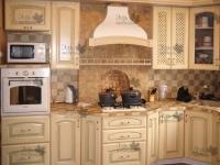 <p> Кухня с фасадами из массива Дуба.</p>