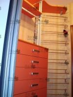 <p> Обустройство гардеробной комнаты(темная комната)Изготовление из ЛДСП Egger (U326 ST15) Тыквенно-жёлтый,Шкаф-купе+подвесная тумба+стеллажи+обувные<br /> (раздвижные) полки</p>