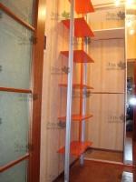 <div> Обустройство гардеробной комнаты(темная комната)Изготовление из ЛДСП Egger (U326 ST15) Тыквенно-жёлтый,Шкаф-купе+подвесная тумба+стеллажи+обувные<br /> (раздвижные) полки</div>